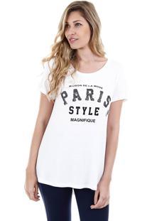 Camiseta Feminina Facinelli - Branco