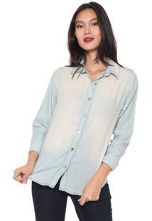 Camisa Jeans Dimy Estonada Azul