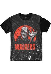 Camiseta Bsc Zombies Andarilhos Sublimada Preto