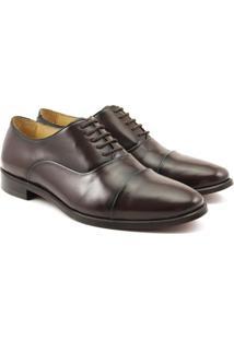 Sapato Oxford Feminino Couro Bico Redondo Confort Dia A Dia Cafã© - Cafã© - Feminino - Couro - Dafiti