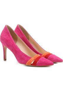 Scarpin Couro Shoestock Salto Alto Mix Colors - Feminino-Pink