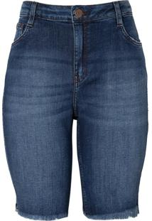 Bermuda Jeans F P Relax (Jeans Escuro, 40)