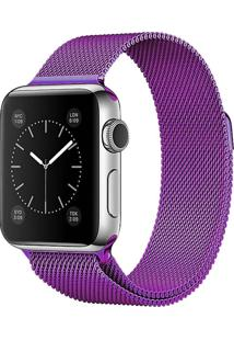 Pulseira Isd Loop Milanese Para Apple Watch 42Mm / 44Mm Roxo