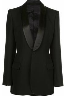 Wardrobe.Nyc Blazer Release Com Gola Xale - Preto