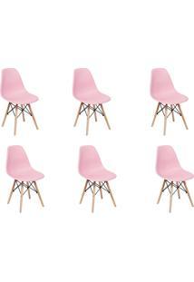 Cadeira E Banco De Jantar Impã©Rio Brazil Charles Eames Eiffel - Incolor/Rosa - Dafiti