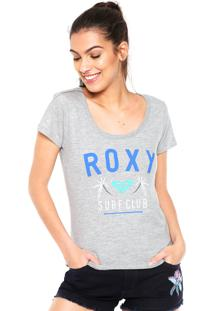 Camiseta Roxy Surf Club Cinza