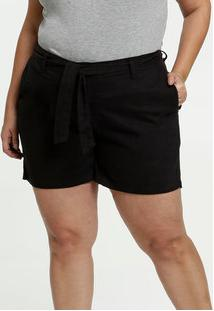 Short Feminino Sarja Clochard Plus Size