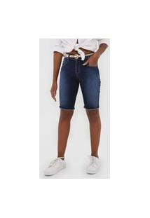 Bermuda Jeans Forum Slim Estonada Azul