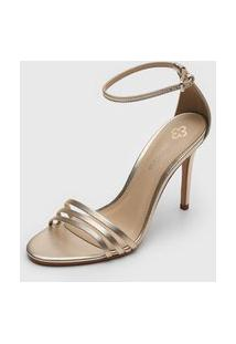 Sandália Capodarte Metalizada Dourada