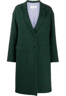 Brag-Wette Casaco Com Abotoamento Simples - Verde