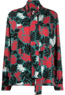 Marni Blusa Com Estampa De Palmeira - Preto