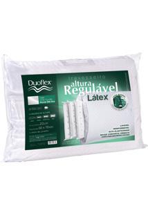 Travesseiro Duoflex De Altura Regulável 100% Látex Branco