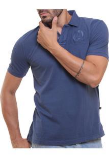 Camisa Polo Oitavo Ato Tinturada Azul Stone