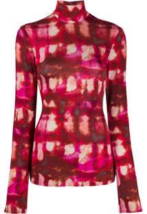 Ellery Blusa Papillon Tie-Dye - Rosa