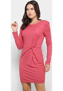 Vestido Colcci Tubinho Manga Longa - Feminino-Rosa