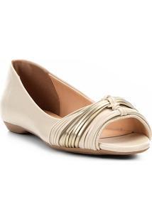 Sapatilha Shoestock Tiras Color Feminina - Feminino-Off White
