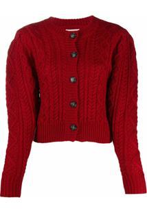 Isabel Marant Étoile Cable Knit Cardigan - Vermelho