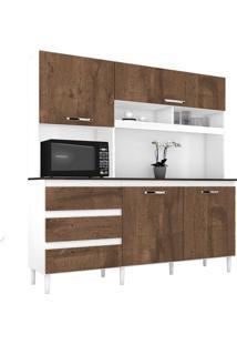 Cozinha Compacta Florença Branco/Malbec 4 Portas - Incorplac