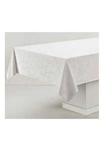 Toalha De Mesa Retangular Veríssimo Branco - Karsten