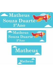 Etiqueta Escolar Aviãozinho