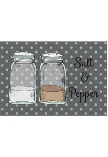 "Tapete Transfer ""Salt & Pepper""- Cinza & Branco- 60Xtapetes Junior"