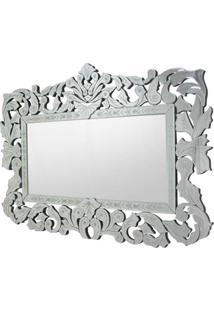 Espelho Veneziano Flores Cor Prata 1,20 Mt (Larg) - 34312 - Sun House