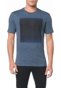 Camiseta Slim Com Estampa Blue - P