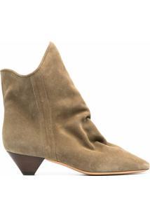 Isabel Marant Ankle Boot Doey De Camurça - Neutro