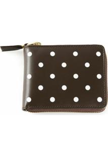 Comme Des Garçons Wallet Carteira Modelo 'Polka Dots Printed' - Marrom