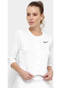 Jaqueta Nike Court Cardigan Feminina - Feminino-Branco+Preto