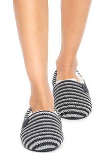 Pantufa Any Any Stripes Azul/Cinza