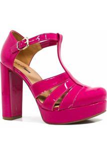 Sandália Zariff Shoes Meia Pata Verniz - Feminino-Pink