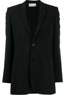 Red Valentino Notched Lapels Single-Breasted Blazer - Preto