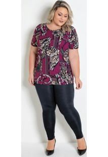 Conjunto Onça Com Blusa E Calça Plus Size