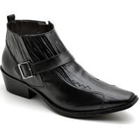 fa63e5cd11a50 Bota Top Franca Shoes Country Masculino - Masculino-Preto
