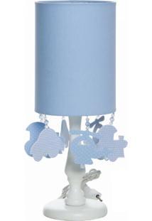 Abajur Cúpula Tubular Meios De Transporte Potinho De Mel Azul