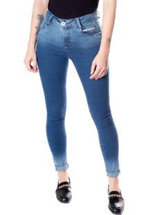 Calça Jeans Skinny Feminina Max Denim Azul - 44