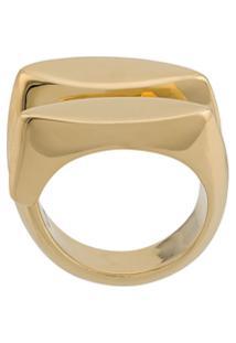 Annelise Michelson Dechainee Signet Ring - Dourado