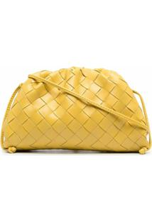 Bottega Veneta Bolsa The Mini Pouch Intrecciato - Amarelo