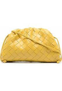 Bottega Veneta Clutch Pouch 20 De Couro - Amarelo