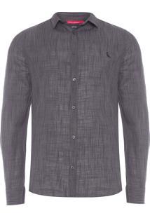Camisa Masculina Hame - Cinza