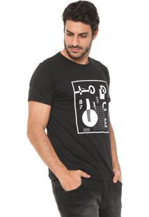 Camiseta Iódice Estampada Preta