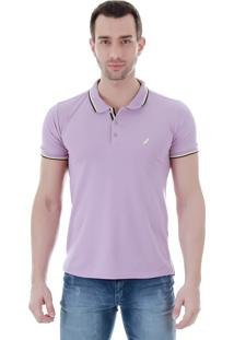 Camisa Polo Masculina Code Blue - Lilas