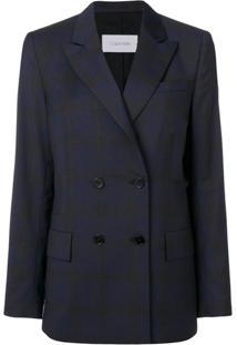 Calvin Klein Jaqueta Xadrez - Azul