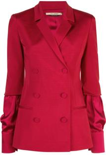 Hellessy Blazer Com Abotoamento Duplo - Vermelho