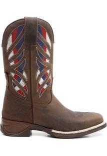 Bota Texana Craz Horse Cafe 08453 - Masculino-Marrom