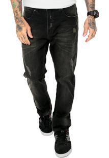 Calça Jeans Mcd Skinny Desgates Preta