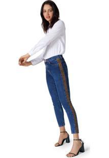 Calça Jeans Skinny Lateral Snake