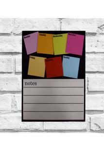 Quadro Decorativo Cozinha Personalizado Metal Notes Colors