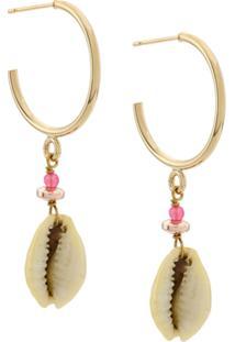 Isabel Marant Malebo Hoop Earrings - Dourado